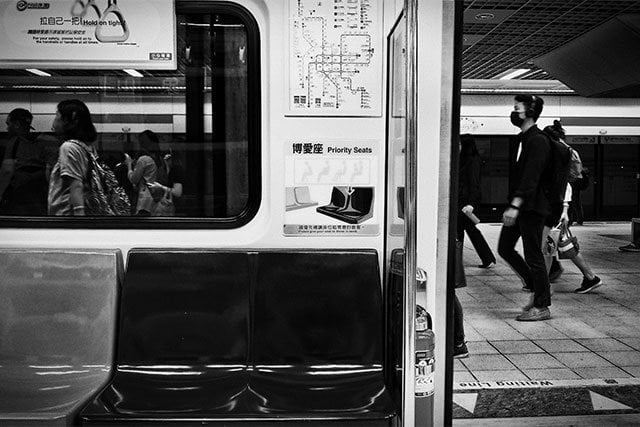 Priority seats in Taipei MRT. Photo: C-Chapman / Unsplash