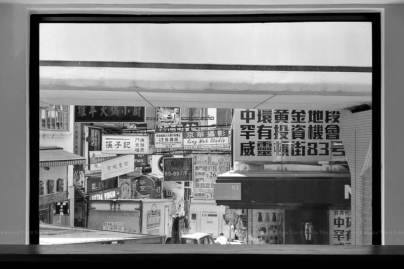 View from a window onto Wellington Street, Central Hong Kong